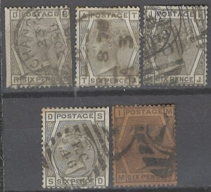 COLLECTION LOT # 2222 GREAT BRITAIN #62p16 x 5 (3 FAULTY) 1873 CV=$350