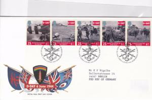 great britain d day stamps cover ref 13262