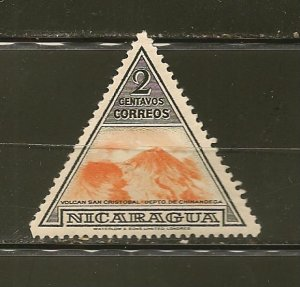 Nicaragua 706 Volcano Triangle Mint Hinged
