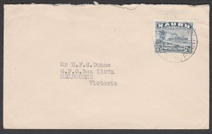 NAURU 1947 commercial cover to Australia with 2½d freighter.................N133