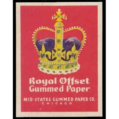 Royal Offset Gummed Paper Advertising Poster Stamp