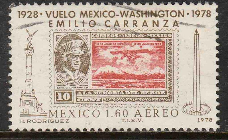 MEXICO C569, 50th Anniv Flight of Emilio Carranza Used F-VF. (1079)