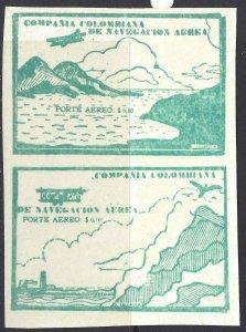 Colombia 1920 SC C11A-C11B Pair MNH SCV$ 240.00