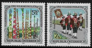 Austria #1705-6 MNH Set - Folklore and Customs
