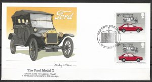 1982 Great Britain 1003 The Ford Model T gutter pair FDC