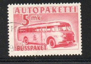 Finland Sc Q6 1952 5 mk carmine rose Postal Bus stamp used