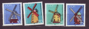 J23242 JL stamps 1981 DDR germany set mnh #2227-30 windmills