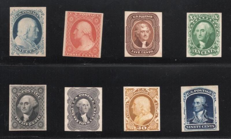 #40P4 through #47P4 - Complete Set of 1857-1860 Card Proofs