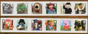 Great Britain Sc 3248-59 2014 Children's TV Characters stamp set mint  NH