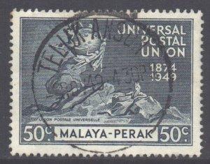 Malaya Perak Scott 104 - SG127, 1949 UPU 50c used