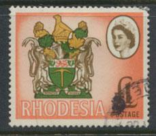Rhodesia   SG 407  Used  Coat of Arms Litho Printing   see details