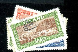 ICELAND #144-148 USED FVF Cat $26
