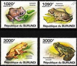 Burundi MNH 902-5 Frogs Amphibians 2011 SCV 13.50