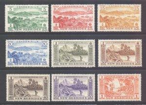 Vanuatu New Hebrides Scott 82/90 - SG84/92, 1957 Short Set to 1f MH*