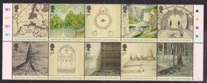 GB 2004 QE2 10 x 1st Class Lord of the Ring Umm Block Traffic Lts Bder ( M1272