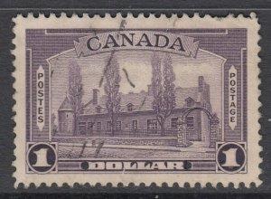 Canada Scott #245  $1.00 Chateau de Ramezay 1938 Pictorial
