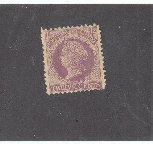 PRINCE EDWARD ISLAND # 16 VF-MNH 12cts 1868-70 QUEEN VICTORIA /VIO- #02 CV $20