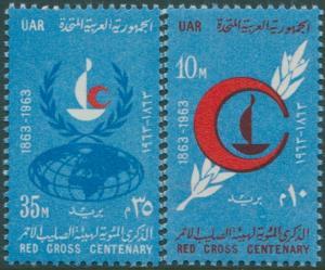Egypt 1963 SG748-749 Red Cross set MNH