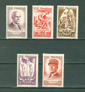FRANCE PETAIN #B153-157 SET...MINT...$75.00