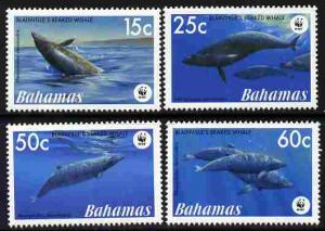 Bahamas MNH 1206-9 Whales WWF Marine Life 2007