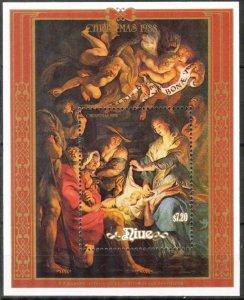 Niue 1988 Christmas Art Paintings P.P. Rubens S/S MNH