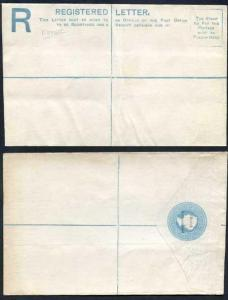 British Bechuanaland O/P on Cape of Good Hope QV 4d Blue Registered Envelope Mi