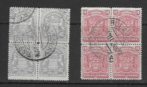 Br. South  Africa early issue blocks used