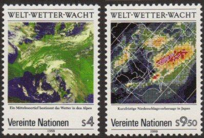 U.N. Vienna #91-92 MNH weather
