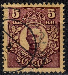 Sweden #73 F-VF Used Inverted Watermark  (X5384)