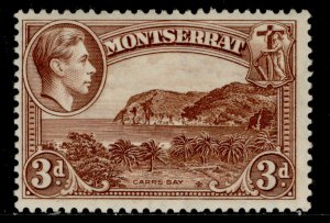 MONTSERRAT GVI SG106, 3d brown, M MINT. Cat £11.