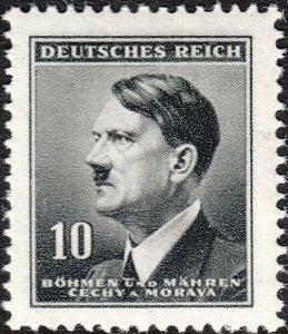 Stamp Germany Bohemia Czech Mi 089 Sc 62 1942 WW2 3rd Reich Hitler MNH