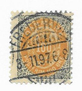 Denmark #52 Stamp CAT VALUE $35.00