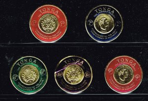 TONGA STAMP Polynesian Gold Coinage Commemoration stamps lot