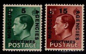 Great Britain, Morocco Scott 437-438 MNH** 1936 overprint set