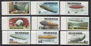 NICARAGUA ^^^^^#1045-48,C921-924  MNH set < ZEPPELINS > $$@ lar 814nica