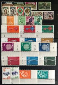 Monaco: MNH Lot CEPT with Sheetlets