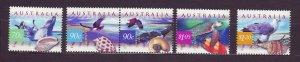 J23781 JLstamps 1999 australia hv,s of set mnh #1738-42 wildlife
