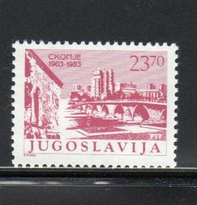 YUGOSLAVIA #1637  1683 SKOPIE EARTQUAKE 20TH ANNIV.  MINT VF NH O.G