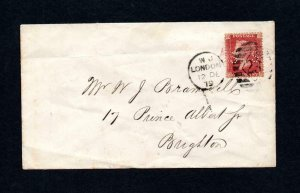 PENNY RED PLATE 216 USED ON COVER WITH 'SS' PERFIN