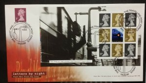 2004 FDC SG1668o Pane 4 Letters by Night Machins DX32 Travelling Post Office TPO