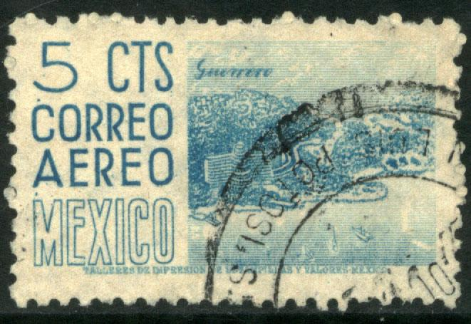 MEXICO C186, 5c 1950 Definitive wmk 279 Used (518)