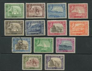 ADEN - Scott 16-27a - Aden Scenes - 1939 - MNH/MVLH - Set of 13 Stamps