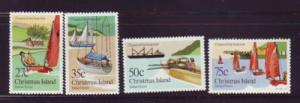Christmas Island Sc 138-41 1983 Boat Club stamp set mint NH