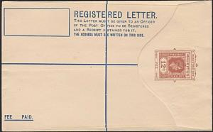 MAURITIUS GVI 12c registered envelope unused...............................54076