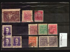 BRAZIL varieties perforations blured impressions die marks etc nice group
