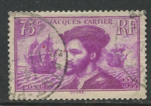 France - Scott 296 - General Issue -1934 - Used -Single 75c Stamp