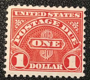 J77 a, Postage Due $1, 11 perf., MNH single,  Vic's Stamp Stash