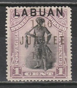 LABUAN 1896 JUBILEE 1C CHIEF PERF 14.5