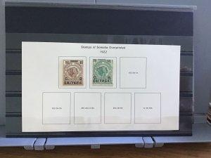 Italian Eritrea 1922  mounted mint  stamps R30144