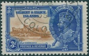 Gilbert & Ellice Islands 1935 SG38 3d Jubilee FU